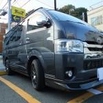 トヨタ ハイエースワゴン ECHELON new version 親水 ガラスコーティング