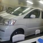 トヨタ アルファード ニュープロテクテション 高機能断熱タイプ プライバシーインフレットIR 施工