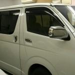 トヨタ ハイエースワゴン アネスト ニュープロテクション UV99%カット カーフィルム 施工