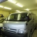 トヨタ ハイエースワゴン UVカット&赤外線カット 断熱フィルム シルフィード施工