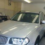 BMW X3 99%UVカット ルミクールSD カーフィルム施工