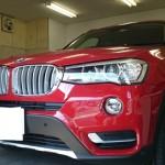 BMW X3 (F25) 赤外線カット 透明断熱フィルム シルフィード カーフィルム 施工