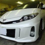 トヨタ エスティマ 平成27年モデル リンテック 赤外線カット ウインコス カーフィルム 施工