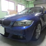 BMW 3シリーズ 325iツーリング 透明断熱フィルム+ウインコス カーフィルム 施工